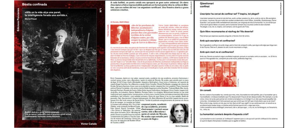 El butlletí digital Bèstia confinada ha impulsat la col·lecció Bèsties en format digital durant el confinament.