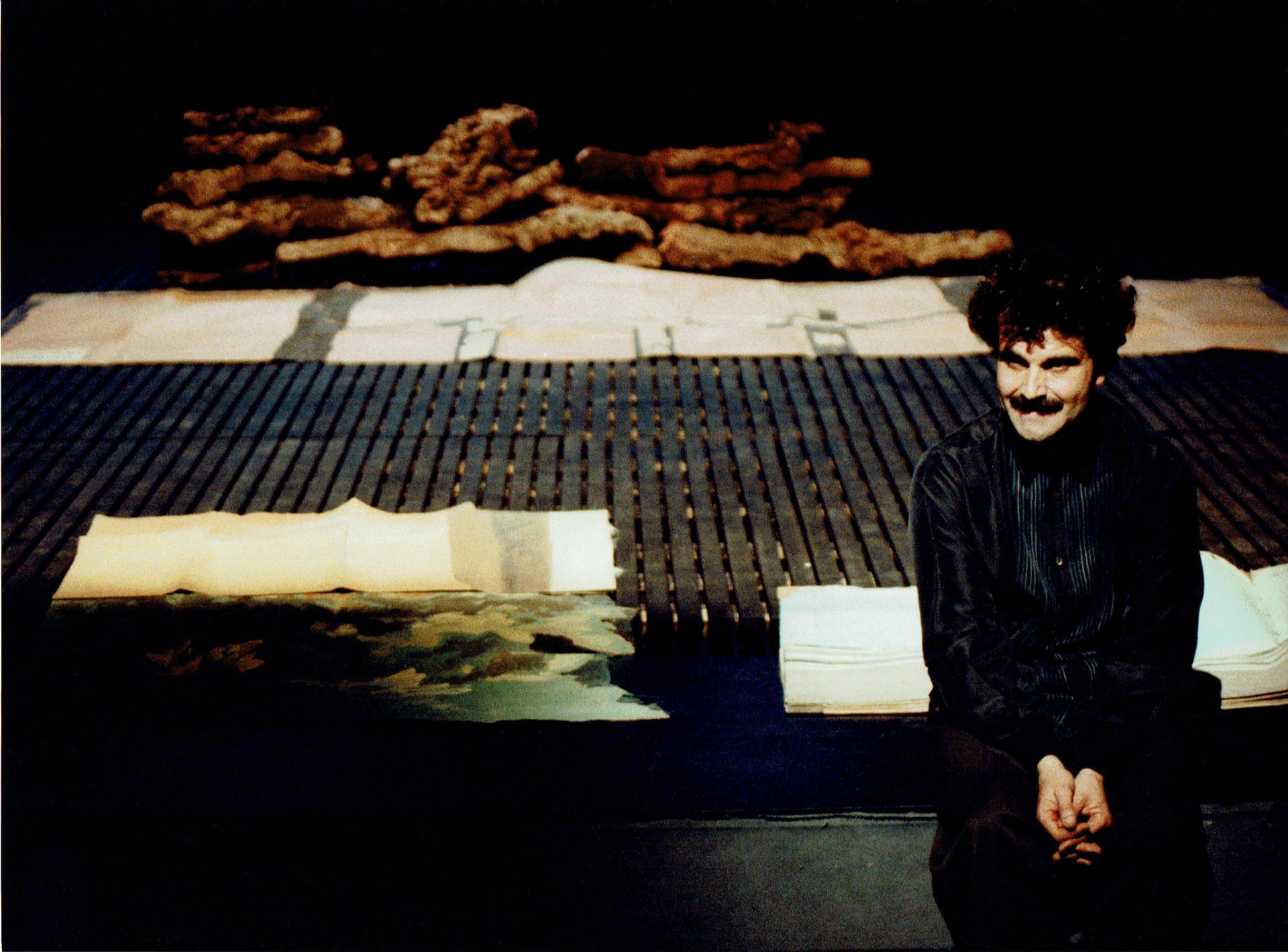 Quim Lecina a Les cròniques de l'ultrason de J. V. Foix (1991) Foto Pau Ros