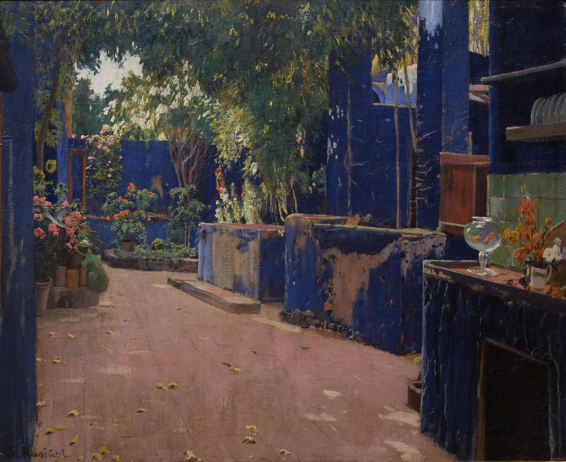 Santiago Rusiñol- El pati blau, 1913. MNAC