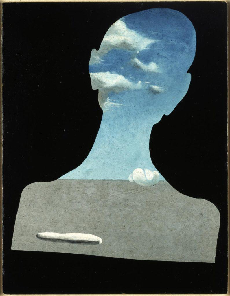 Salvador Dalí: Home amb cap ple de núvols, c.1936 . © Salvador Dalí, Fundació Gala-Salvador Dalí, VEGAP/Figueres 2020.