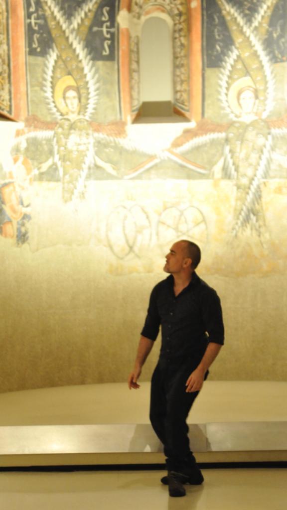 Roberto Olivan en la presentació de la programació del Dansàneu al MNAC el mes de juny. Foto: Joan Blanco