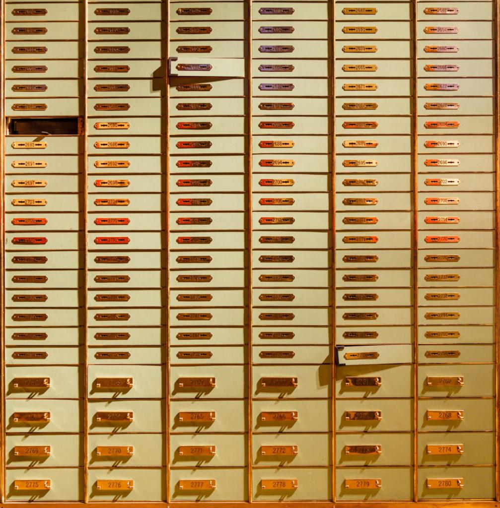 Caixes fortes de la cambra cuirassada del Bank Swiss de Zuric. Wikicommons.