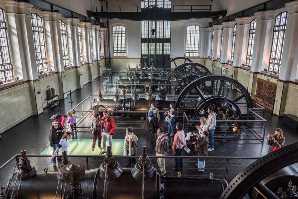 La sala de l'electricitat del Museu de les Aigües. Font: Museu de les Aigües, Fundació Agbar.