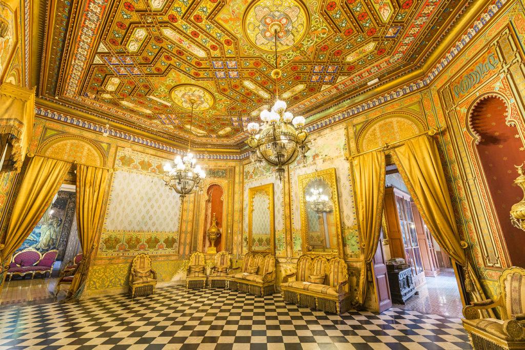 El saló àrab del Palau Merdader. Font: Facebook Turisme El Baix Llobregat.