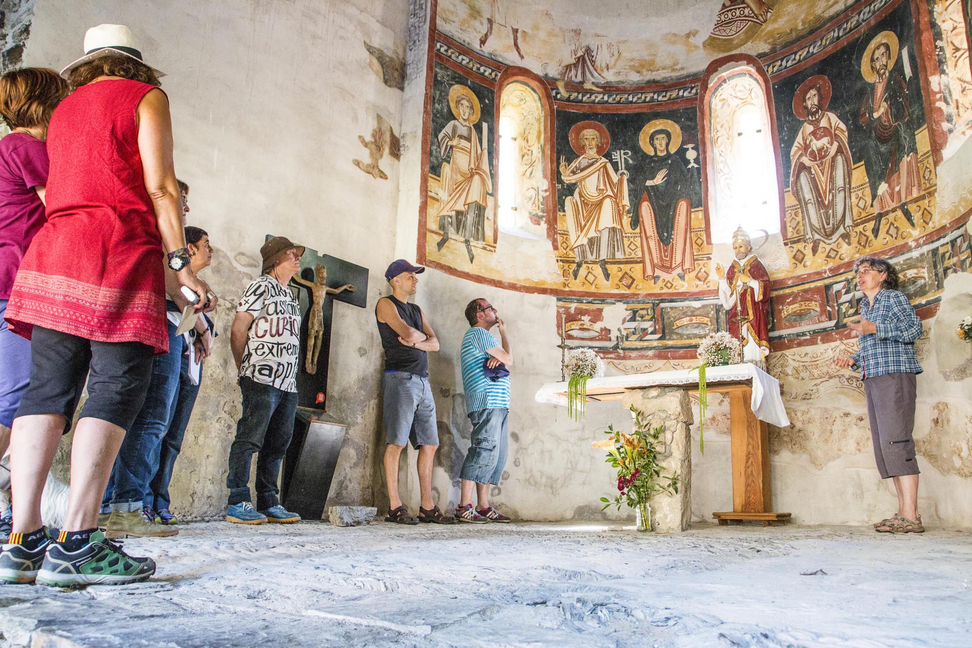 Sant Pere del Burgal, un dels escenaris de Joc de Dames. Font: Ecomuseu de les Valls d'Àneu – Oriol Riart.