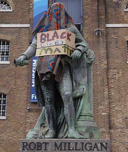 Escultura de Robert Milligan a Londres. Wikicommons.
