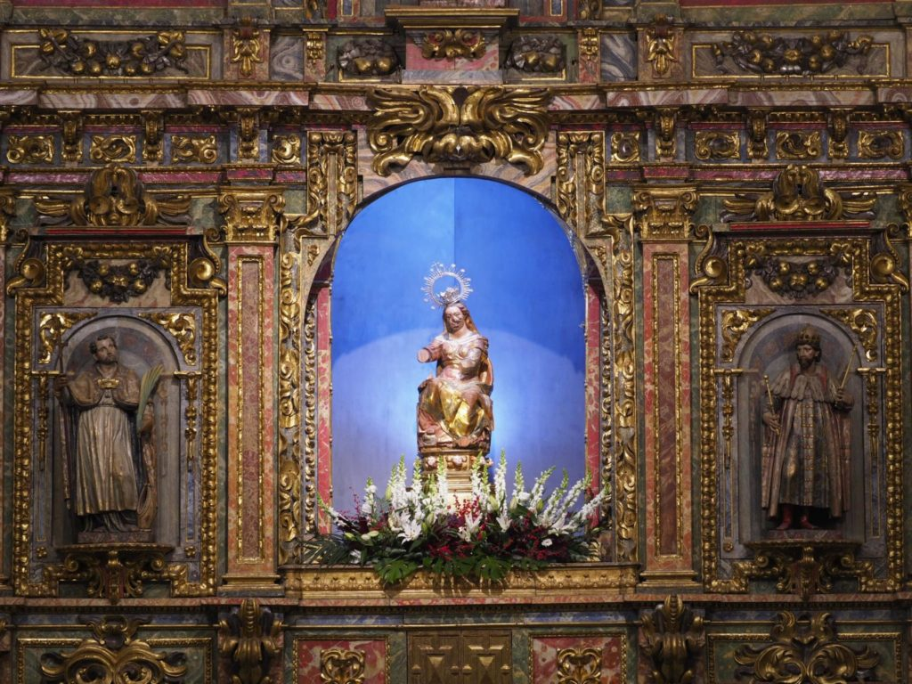"""Imatge de la """"Virgen Vulnerata"""" de Valladolid."""