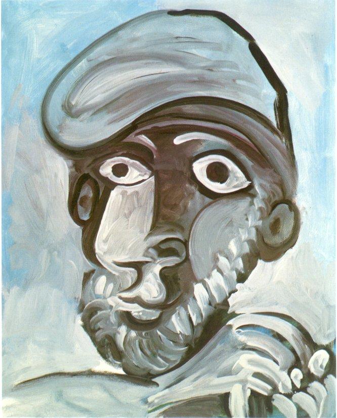 Picasso. Home amb barretina, 1971. Oli sobre tela, 81 x 65. Col·lecció particular, París.