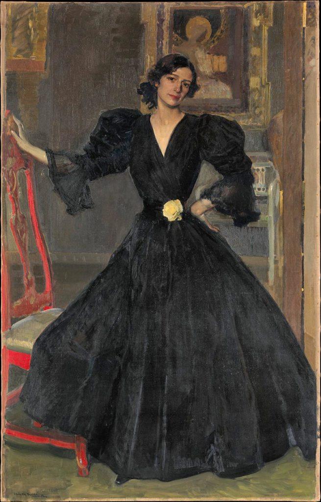 Clotilde vestida de negro - Joaquin Sorolla
