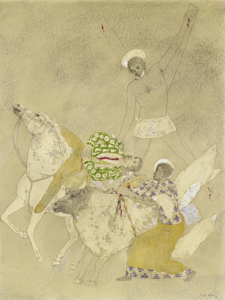 Francesc d'A. Galí, Sant Pere, torero i cavall (1961), col. part.
