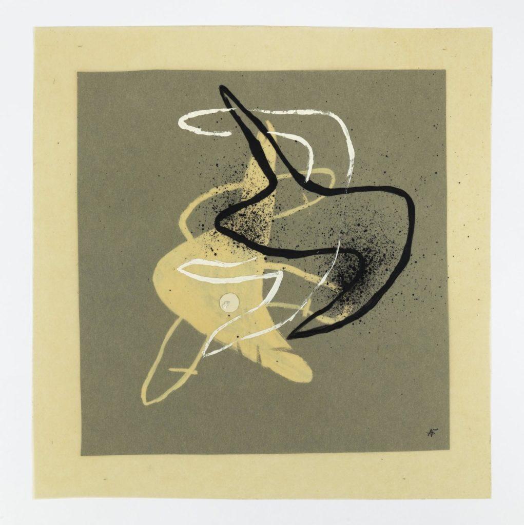 Àngel Ferrant. Mans inquietes (Dibuixos mòbils), 1948. Tinta i guaix sobre paper. Cortesia Fundació Vila Casas