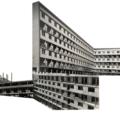 Fotomuntatge del procès construcció Casa Bloc - autor Joan Olona
