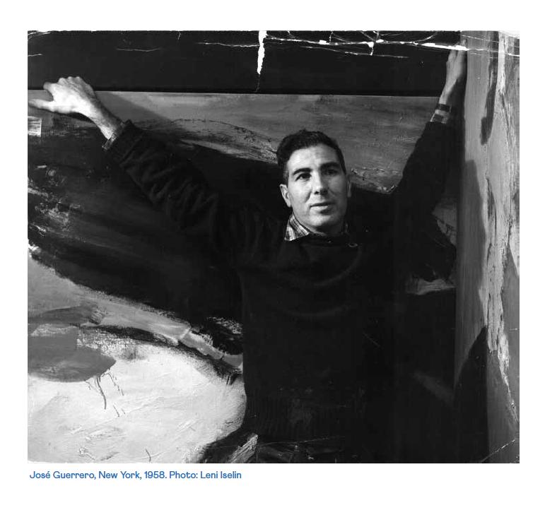 José Guerrero. NovaYork, 1958. Foto: Leni Iselin. Cortesia Galeria Mayoral