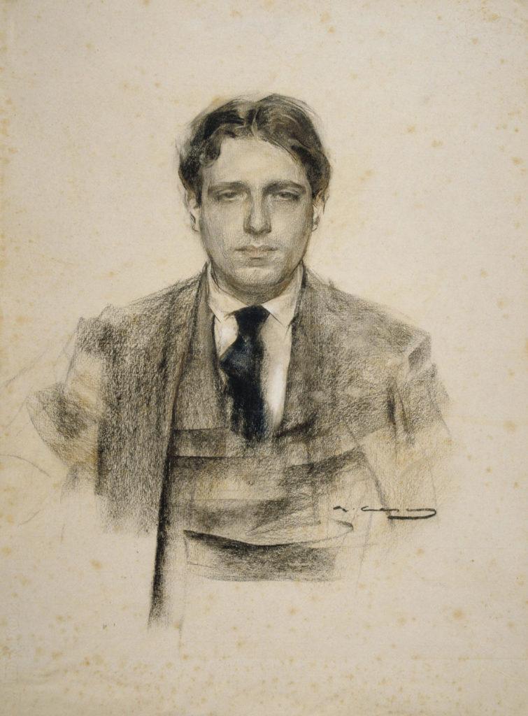 Eugeni d'Ors retratat pel pintor, Ramon Casas, 1906-1907.