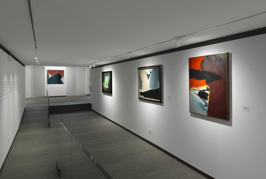 Vista general de l'exposició de José Guerrero. Fotografia: cortesia Galeria Mayoral.