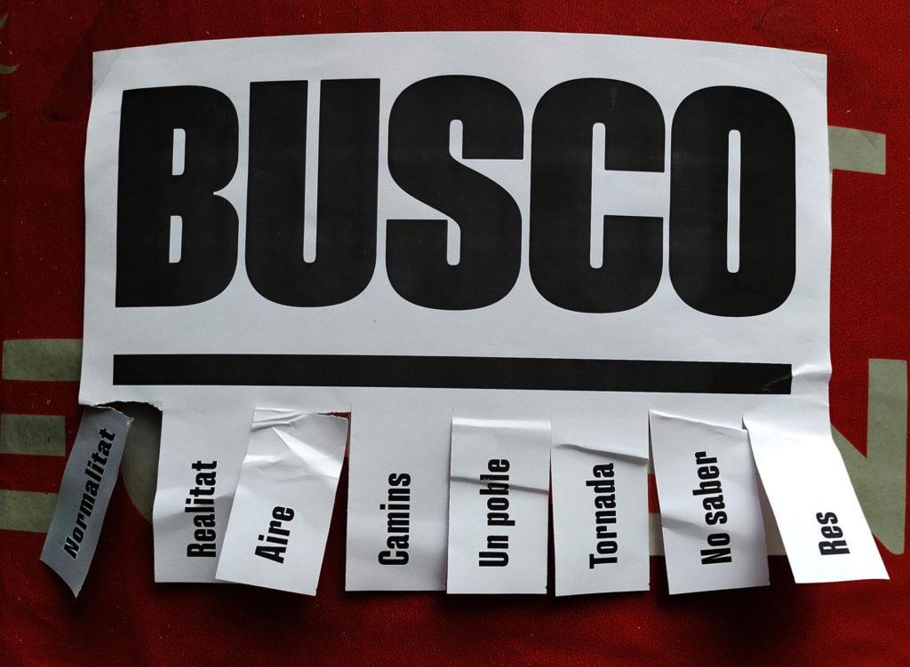 "David Torrents, ""Busco"""