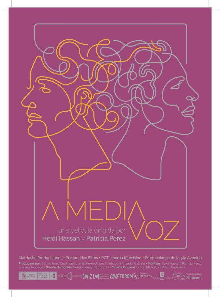 """Cartell del film Heidi Hassan i Patricia Pérez Fernández, directores del documental de creació """"A media voz"""""""