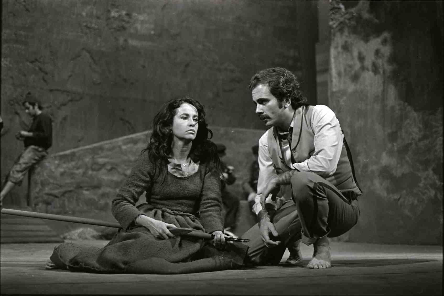 Montserrat Carulla fent 'La filla del mar' el 1971. Foto: Pau Barceló / MAE. Institut del Teatre