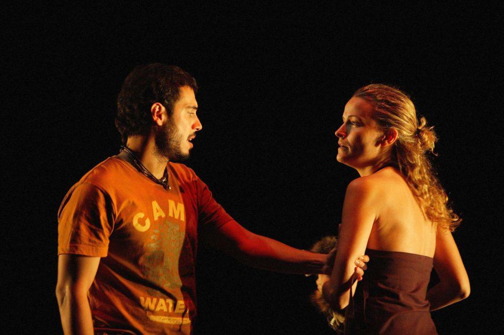 Julio Manrique i Cristina Genebat van participar a 'Salamandra', de Benet i Jornet, al TNC el 2005. Foto: Teresa Miró/TNC