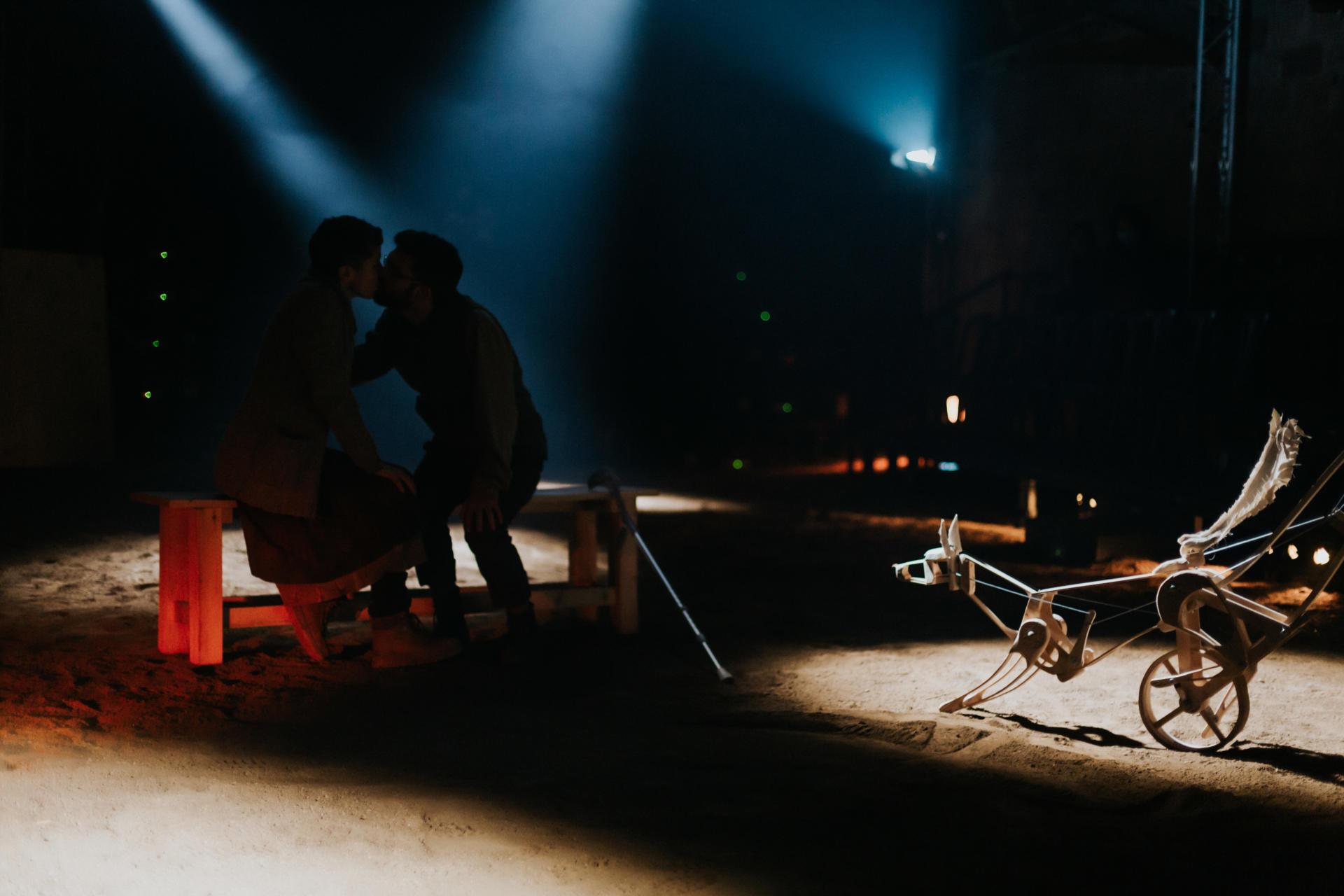 Anna Sahun i Ireneu Tranis a 'Canto jo i la muntanya balla', a la Biblioteca de Catalunya. Foto: La Perla 29
