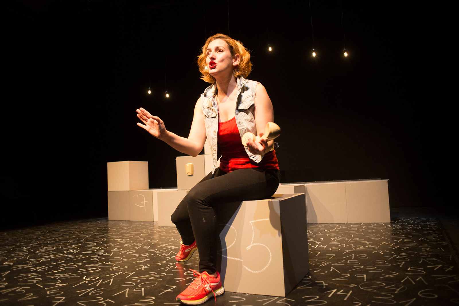 L'actriu, directora i dramatutga Marta Aran. Foto: Roser Blanch