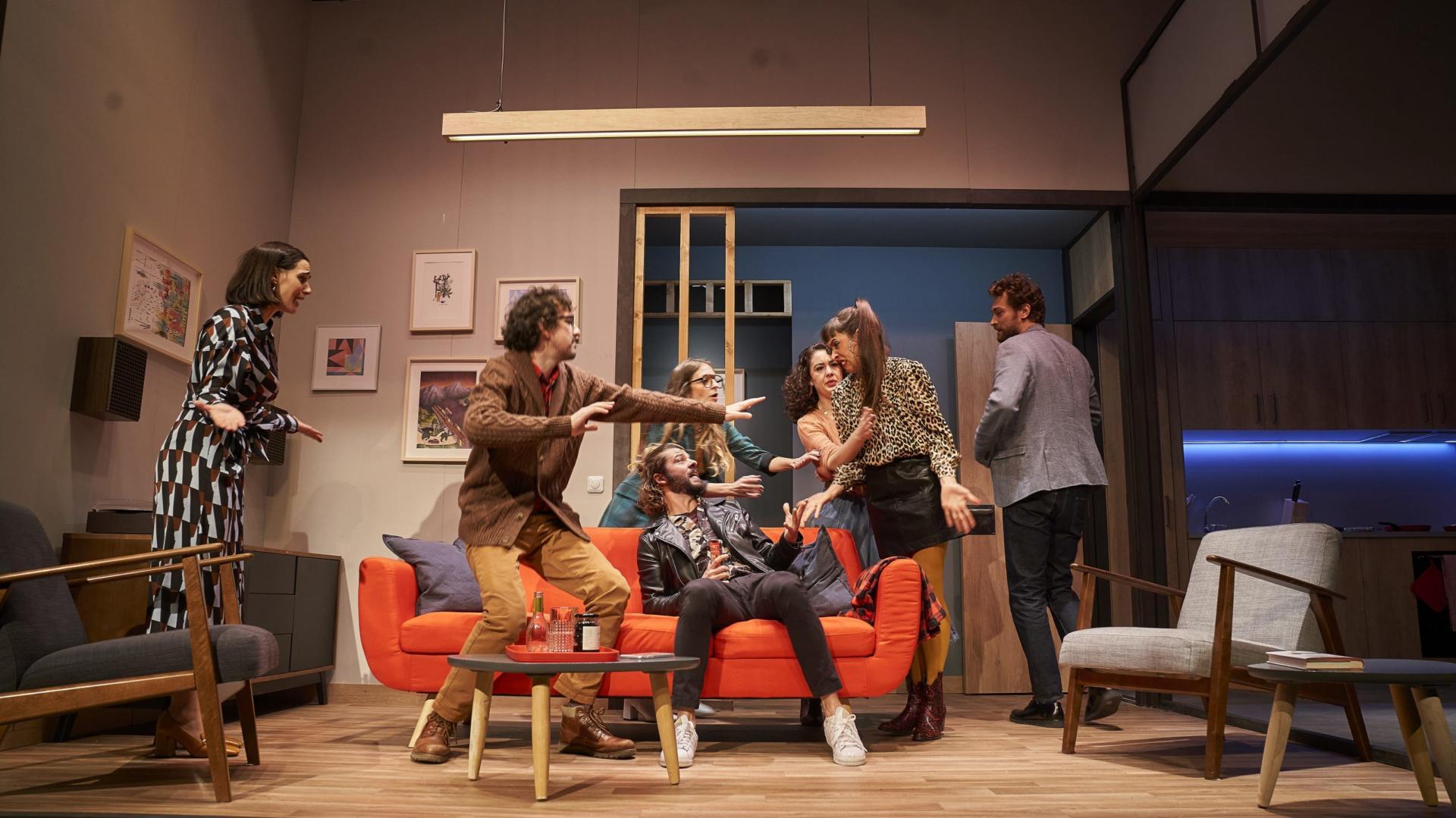 Jordi Casanovas compta amb una bona companyia d'intèrprets per recuperar 'Sopar amb batalla' al Borràs. Foto: David Ruano