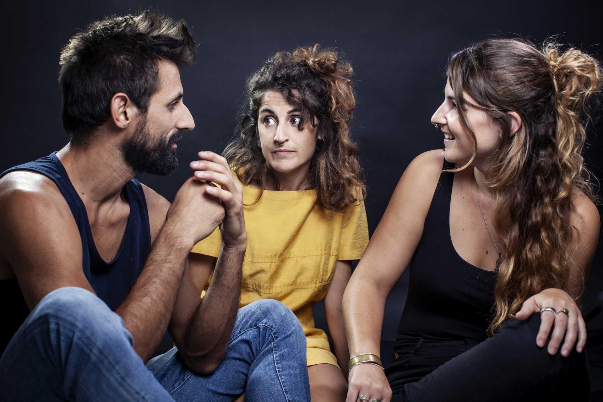 Diego Ingold, Lluki Portas i Gal·la Peire Camps són les Hermanas Picohueso. Foto: Hermanas Picohueso